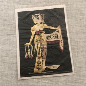 Vintage Asian straw art